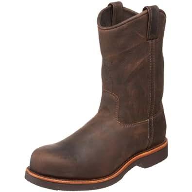 "Chippewa Men's 10"" Steel Toe EH 20076 Pull On Boot,ChocolateApache,7 D US"