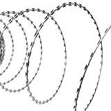 vidaXL 28'' Razor Wire/Helical Barbed Wire Galvanized Steel 1 Coil 492 Feet Coverage