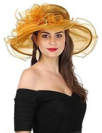 941d2dace5e Women s Organza Church Kentucky Derby Fascinator Bridal Tea Party Wedding  Hat
