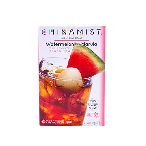 China Mist - Watermelon With Marula Black Iced Tea Bags - Each Tea Bag Yields 1/2 Gallon ()