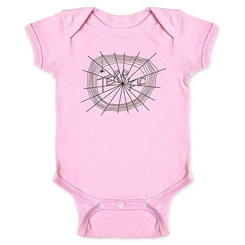 Pop Threads Terrific Spider Web Cute Pink 12M Infant Bodysuit