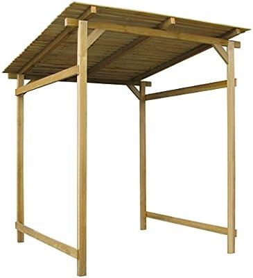 Fijo Night de madera grande Cenador de jardín casa vordach Jardín Pergola Caseta Pult techo 180 x 200 x 200 cm: Amazon.es: Jardín