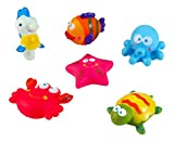 Best Liberty Imports 1year Old Toys - Sea Animals Floating Toy Rubber Water Bath Squirties Review