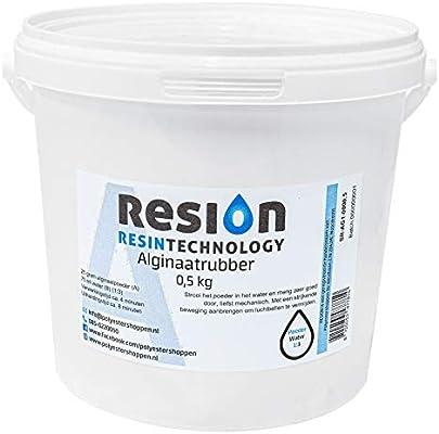 Crema de alginato en polvo para moldear de RESION | Rosa Blanco | 500 gramos | Polvo de deformación rápido en 10 minutos, deformación biológica y respetuosa con la piel: Amazon.es: Hogar