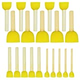 24pcs Sponge Paint Brush, YSLF Round Sponge Brushes for Painting 4 Sizes Paint Sponges for Kids Sponge Brushes for Painting Painting Supplies Artist Sponge