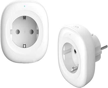 XCUGK Enchufe Inteligente Exterior Impermeable 10A 2400W Enchufe WiFi para Exterior App Remota Toma De WiFi Inteligente Compatible con Amazon Alexa, Google Home Y IFTTT(2 Pack),EU: Amazon.es: Deportes y aire libre