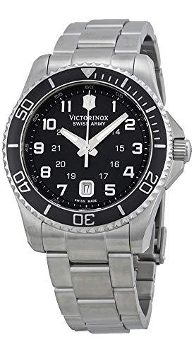Victorinox Swiss Army Men's 'Maverick' Swiss Quartz Stainless Steel Sport Watch, Color:Silver-Toned (Model: (Swiss Army Watch Accessories)