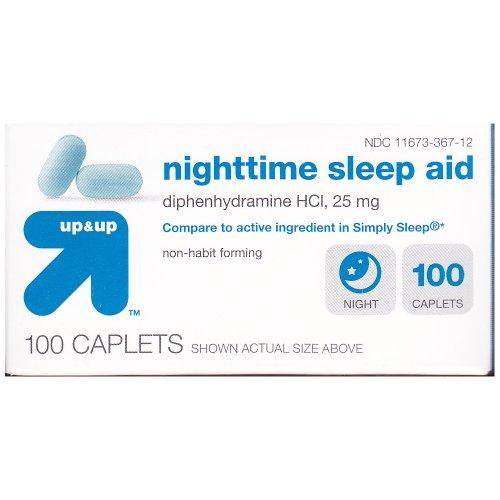Up and Up Nighttime Sleep Aid 100ct Compare to Simply Sleep