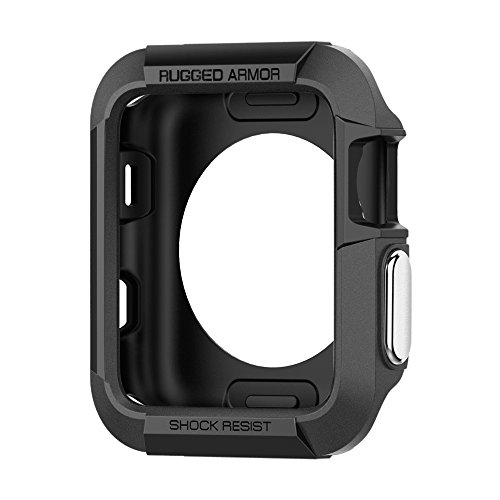 Spigen Rugged Armor Apple Watch Case with Resilient Shock Absorption for 42mm Apple Watch Series 3 / Series 2 / 1 / Original (2015) / Nike+ Sport Edition - Black from Spigen