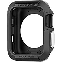 Spigen Rugged Armor Apple Watch Case with Resilient Shock Absorption for 42mm Apple Watch Series 3 / Series 2 / 1 / Original (2015) / Nike+ Sport Edition - Black