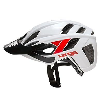 Urge ubp18502l Casco de Bicicleta de montaña Unisex, Color Blanco/Rojo, L/