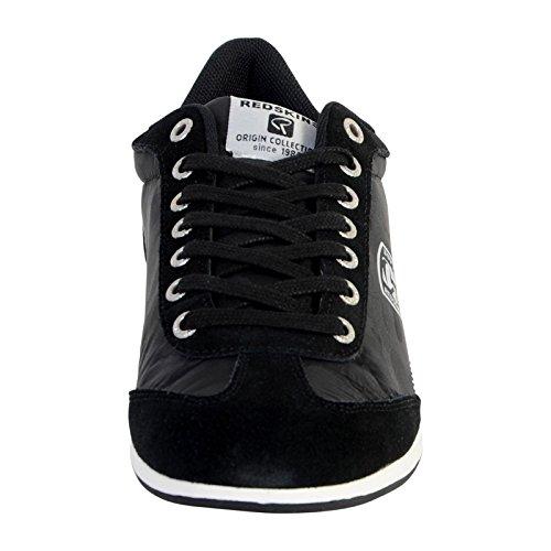 best service 827f2 c9110 Blanc Blanc Blanc Toile Noir Chaussures Baskets Marine en Rougeskins Falto  507958
