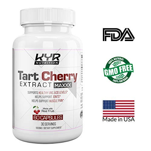 KYR Tart Cherry Extract Capsules with Celery Seed-Flush Excess Uric Acid Providing Joint Comfort, Healthy Sleep and Muscle Recovery -Our Most Effective polyphenols Supplement ever-60 Veg Cap (3 Pack) by KyRush It (Image #2)
