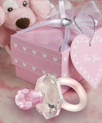 Pink Crystal Pacifier Favors, 40