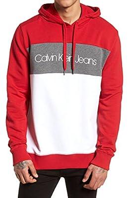 Calvin Klein Jeans Men's Colorblock Pullover Hoodie Sweatshirt