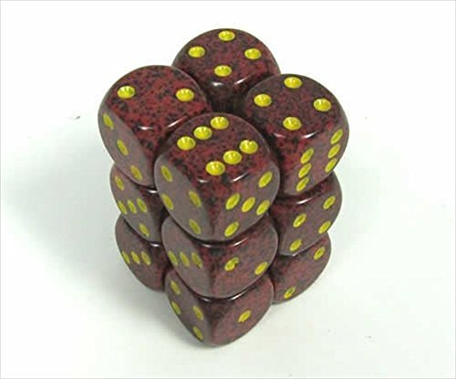 Chessex Manufacturing 25723 Mercury Speckled - 6 Sided 16 mm Dice Set Of 12
