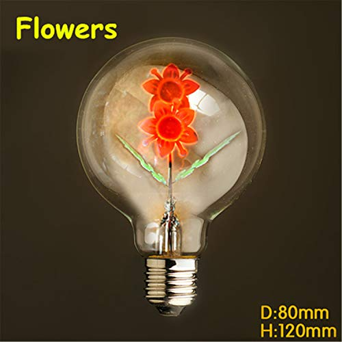 Bulb E27 40W 220V Retro Lamp Incandescent Bulb lamp Filament Light G80 led Sunflowers E27