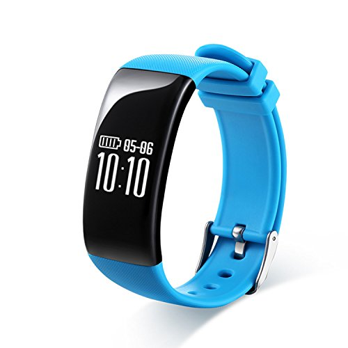 RG Waterproof Bluetooth Fitness Tracker Wristband Smart Bracelet With Heart Rate Monitor (Recordable Bluetooth)