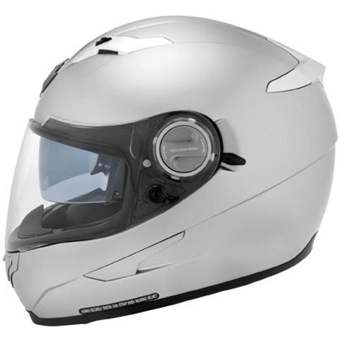 Scorpion EXO-500 Solid Helmet, Hyper Silver, Size: Md, Primary Color: Silver, Helmet Type: Full-face Helmets, Helmet Category: Street, 896172
