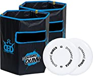 Dynamic Discs Dynamic Dunk Game Set | Flying Disc Toss Dunk Game Set | Includes 2 Targets and 2 Frisbees | Mes