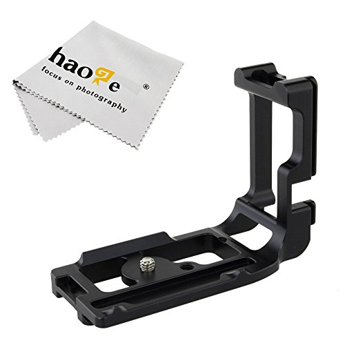 Haoge Vertical Shoot QR Quick Release L Plate Camera Bracket
