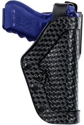 Uncle Mike's Mirage Basketweave Nylon Pro-2 Dual Retention Duty Jacket Holster (22, Right Hand)