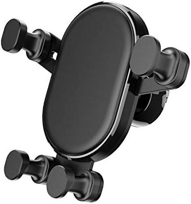 携帯電話ホルダー 車の電話マウント調整可能な360度回転携帯電話電話ホルダーユニバーサルエアベント電話マウントスマートフォンオートロック簡単にインストール 自動車電話ホルダー (色 : Black, Size : Free size)