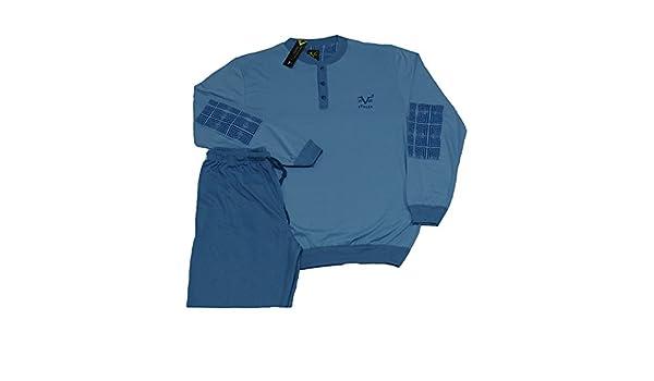 Versace 19.69 - Pijama 27 - 901 V para Hombre, 100% algodón, Manga Larga Avio Small: Amazon.es: Ropa y accesorios