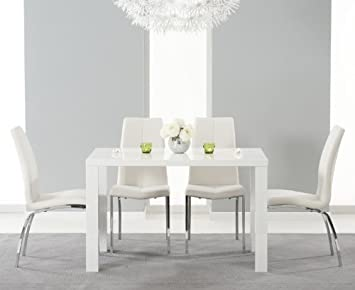 Image Unavailable Not Available For Colour Atlanta 160cm White High Gloss Dining Table