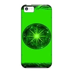 Shockproof Hard Phone Cover For Iphone 5c With Custom Realistic Green Lantern Skin JohnPrimeauMaurice