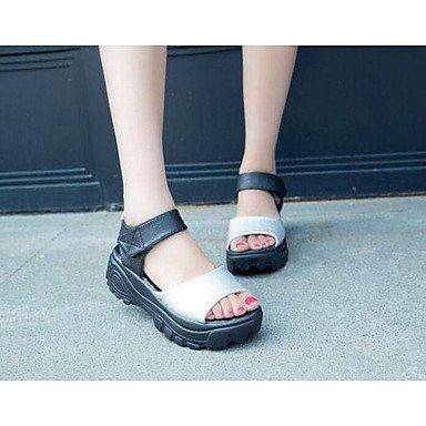 SHOES-XJIH&Uomini sandali suole di luce PU estate autunno all'aperto di acqua atletica scarpe tacco piatto luce blu Blu Bianco Nero appartamento,blu,US10 / EU43 / UK9 / CN44