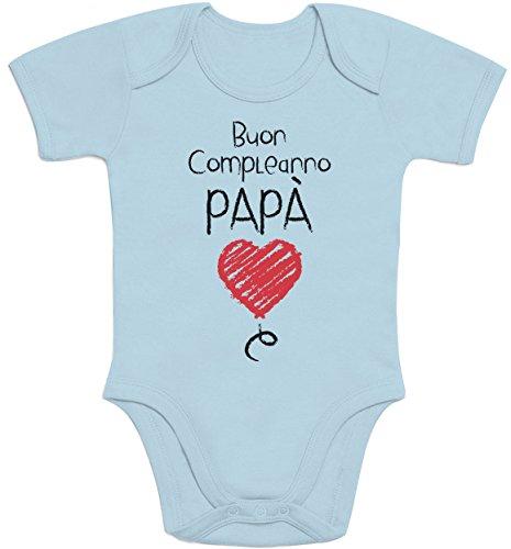 Manica Body E Per Compleanno Neonato Idea Padre Celeste Shirtgeil Buon Papà Regalo Corta 0nzXZxvwq