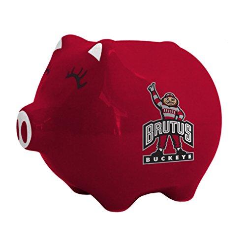 NCAA Ohio State Buckeyes Ceramic Piggy Bank ()