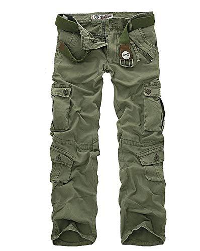 Lunghi Stile Pantaloni In Autunnali Larghi Semplice Autunno Mimetico Hulday Grün Primavera Cotone Lavoro All'aperto Uomo Armee Casual Combattimento Da d4xq0PwX