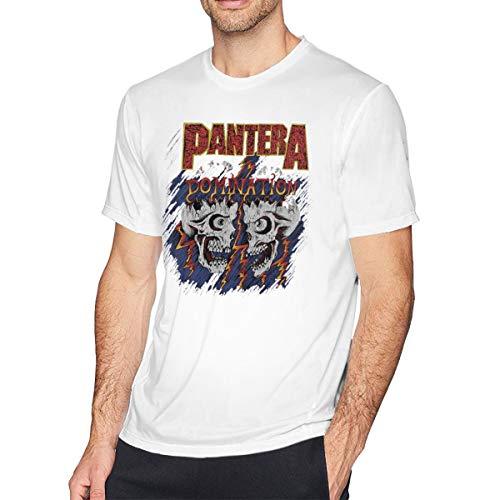 Rip Out Skull T-shirt - Aebipo Pantera Skull Logo RIP T-Shirt Hip Hop Short Sleeve Priented Round Neck T Shirts White M