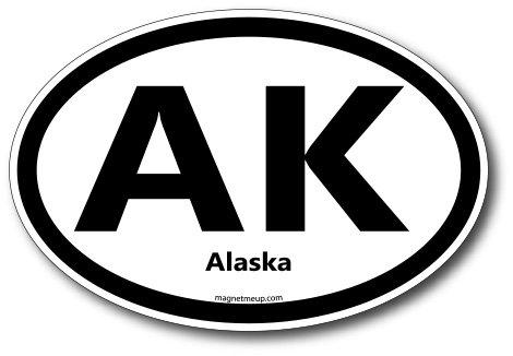 AK Alaska Car Magnet US State Oval Refrigerator Locker SUV Heavy Duty Waterproof…