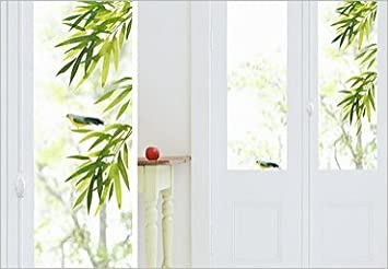 Stickers Electrostatiques Sans Colle Pour Fenetres Vitres Et Miroirs Visibles Des 2 Cotes Bambou Amazon Fr Cuisine Maison