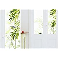 Stickers électrostatiques sans colle, pour fenêtres, vitres, et miroirs, visibles des 2 côtés, Bambou