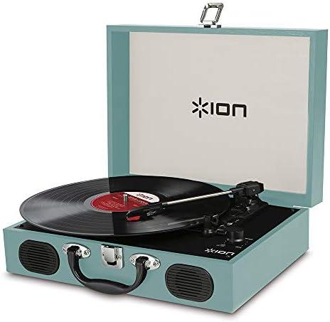 ION AUDIO アイオンオーディオ リスニングターンテーブル Vinyl Transport Blue トランク型レコードプレーヤー