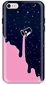 Stylizedd Apple iPhone 6Plus Premium Dual Layer Tough Case Cover Gloss Finish - Berry Milky Way