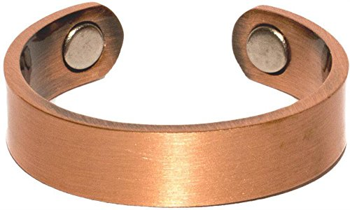 Noveltees Pure Copper Magnetic Cuff SOLID SMOOTH STYLE # P Health Ring
