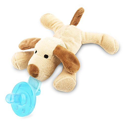 Zooawa Silicone Baby Pacifier with Removable Stuffed Animal, Dog