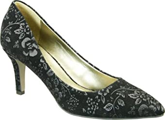 6902b5955 David Tate New Womens Opera 2-001 Black Floral Pumps Size 7 (AA