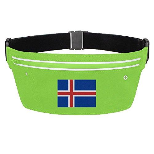 Waist Pack Bag Iceland Flag Running Belt Ultrathin Hide Purse Adjustable Waterproof Outdoor