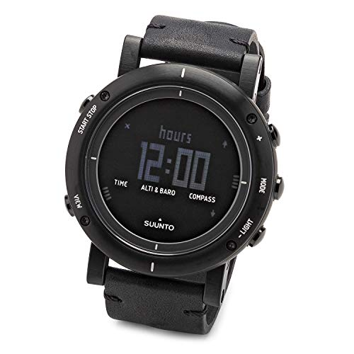Suunto Essential Carbon Digital SS Leather Multi Quartz Men's Watch SS021215000
