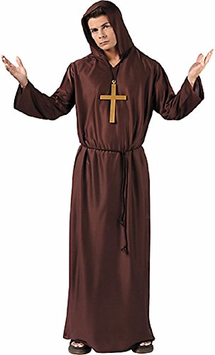 [Monks Robe Costume - Standard - Chest Size 42] (Brown Monk Robe Costume)