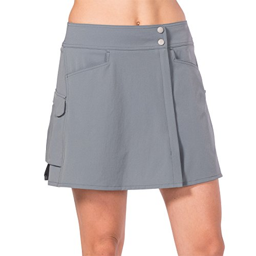 Terry Women's Best Selling 2 Piece Metro Cycling Skort Ensemble – Ladies Active Bicycle Sportswear Cover-up Skort Skirt with Pockets and Embroidered Bike Detail