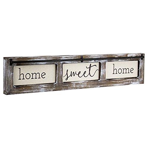 American Art Decor Home Sweet Home Rustic Wood Canvas Art Wall Decor Sign