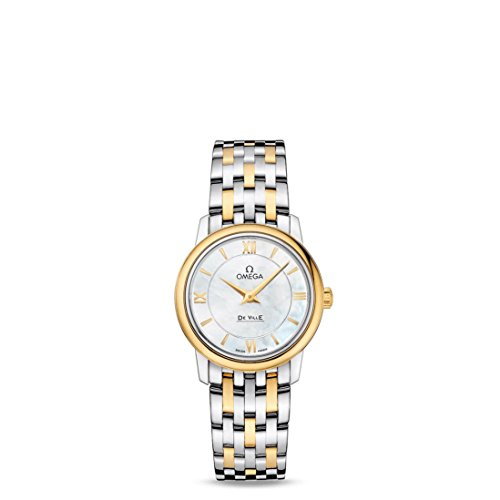 Omega-De-Ville-Prestige-White-Mother-of-Pearl-Dial-Ladies-Watch-42420276005001