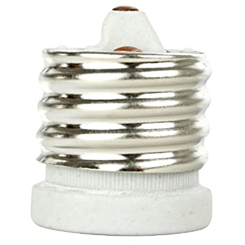 Sunlit Sunlit 04053-SU E129/E26-Mog Light Bulb Adapter Mogul Base to Medium Base
